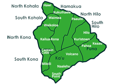 Image of Interactive Big Island Map, links to searches per District