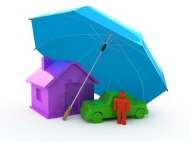 3D figures of a house, car, and person under an umbrella provided by HouseLogic and shared by Arabel Camblor on arabelcamblor.com
